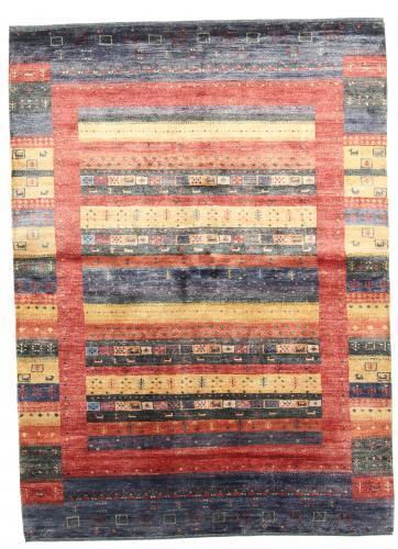 Gabbeh Design Bambus Seide Indischer Teppich 193x142 Id34697