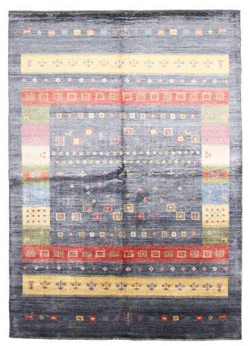 Gabbeh Design Bambus Seide Indischer Teppich 242x173 Id34706