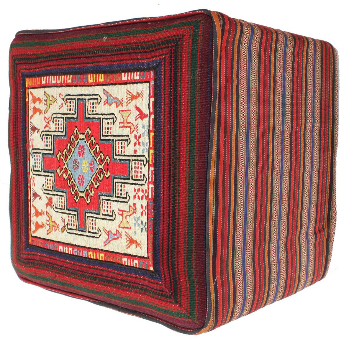 kelim hocker eckig perserteppich 50x50 id14503 kaufen sie ihren orientteppich kelim teppich. Black Bedroom Furniture Sets. Home Design Ideas