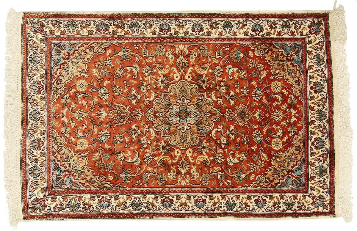 kaschmir reine seide indischer teppich 119x79 id14218. Black Bedroom Furniture Sets. Home Design Ideas