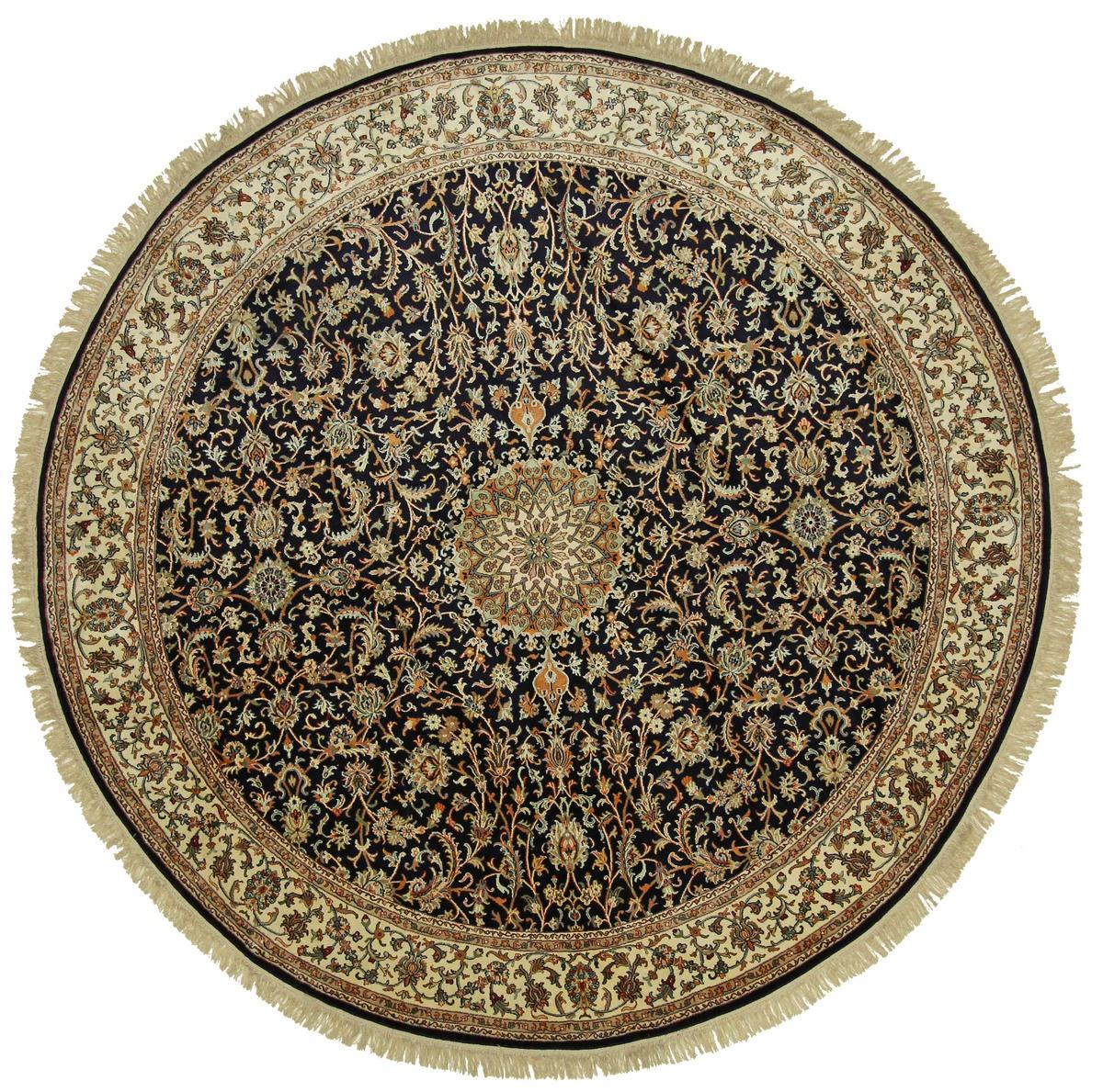kaschmir reine seide indischer teppich 244x242 id14841. Black Bedroom Furniture Sets. Home Design Ideas