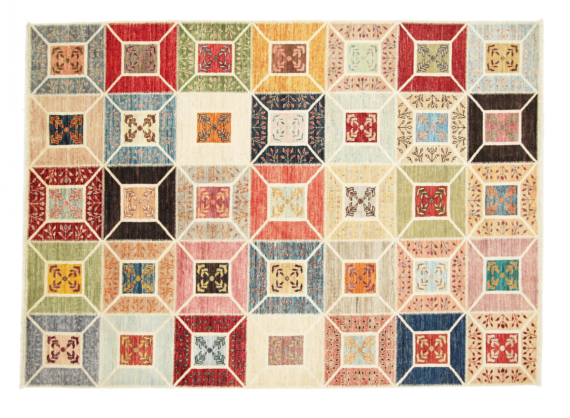 arijana puzzle pakistanischer teppich 234x168 id21471. Black Bedroom Furniture Sets. Home Design Ideas