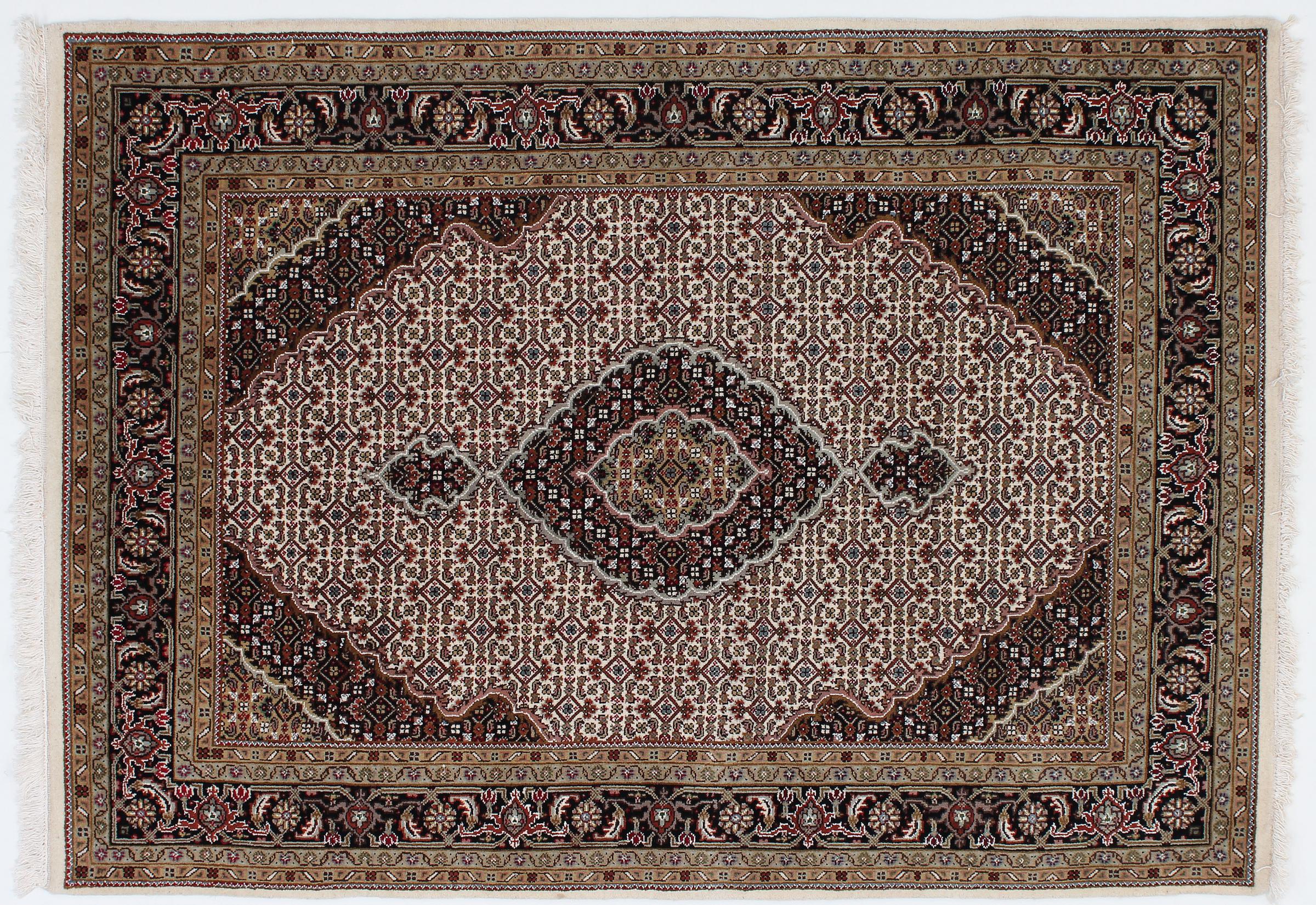 indo t briz indischer teppich 204x144 id23175 kaufen sie ihren orientteppich indo tabriz. Black Bedroom Furniture Sets. Home Design Ideas
