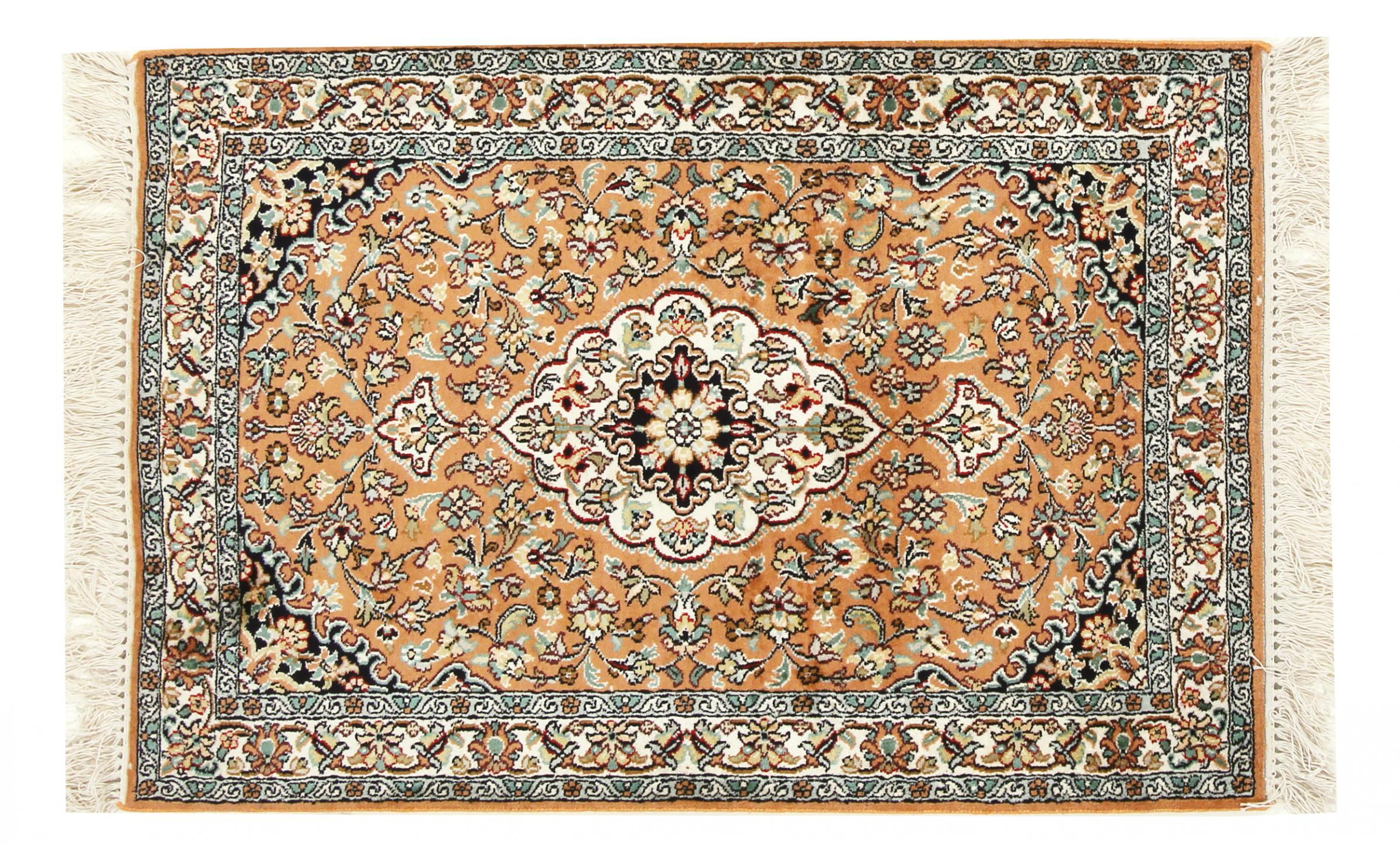 kaschmir reine seide indischer teppich 99x61 id33677 kaufen sie ihren orientteppich kaschmir. Black Bedroom Furniture Sets. Home Design Ideas