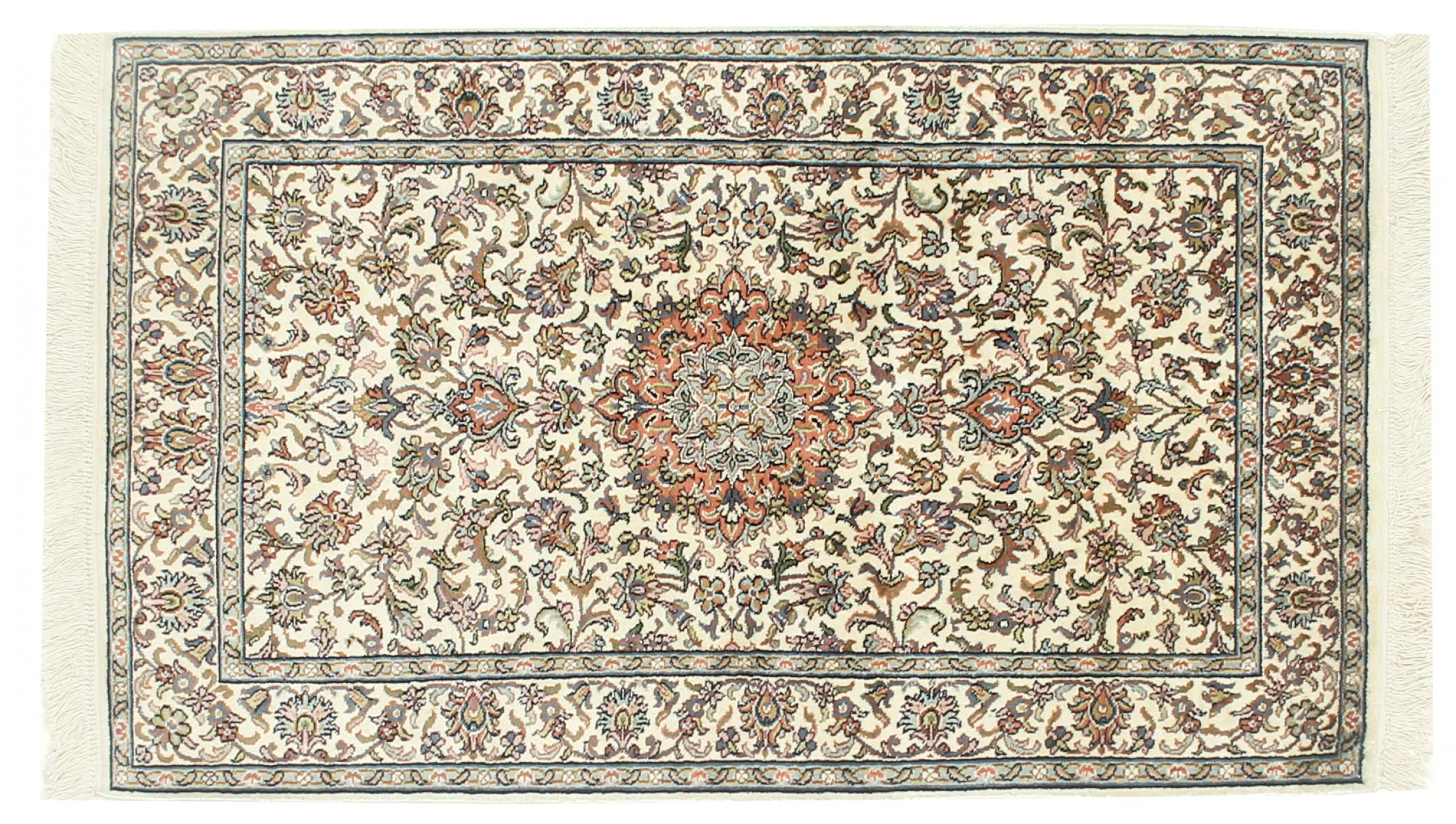 kaschmir reine seide indischer teppich 132x78 id33040. Black Bedroom Furniture Sets. Home Design Ideas