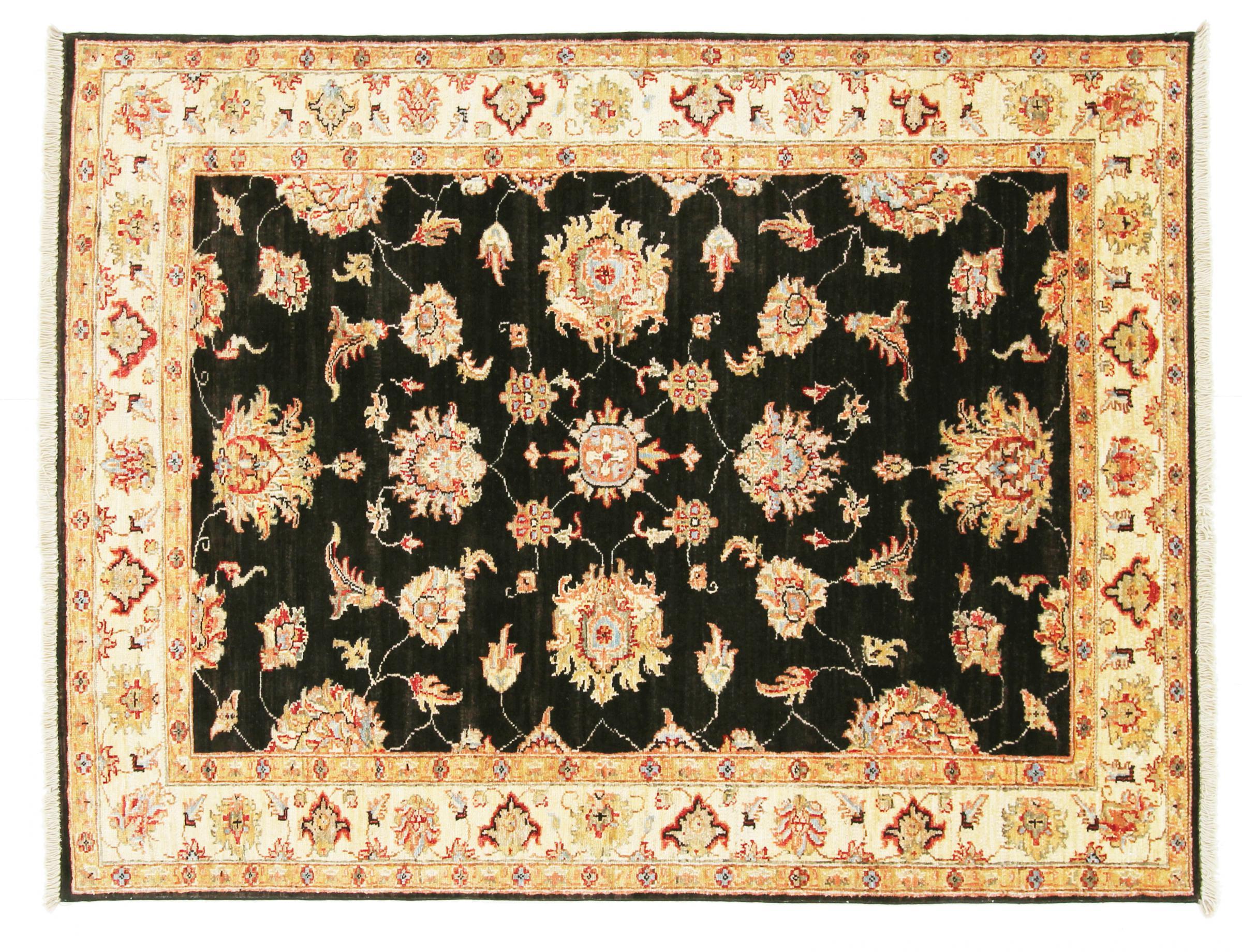 ziegler farahan pakistanischer teppich 163x128 id20751 kaufen sie ihren orientteppich z. Black Bedroom Furniture Sets. Home Design Ideas
