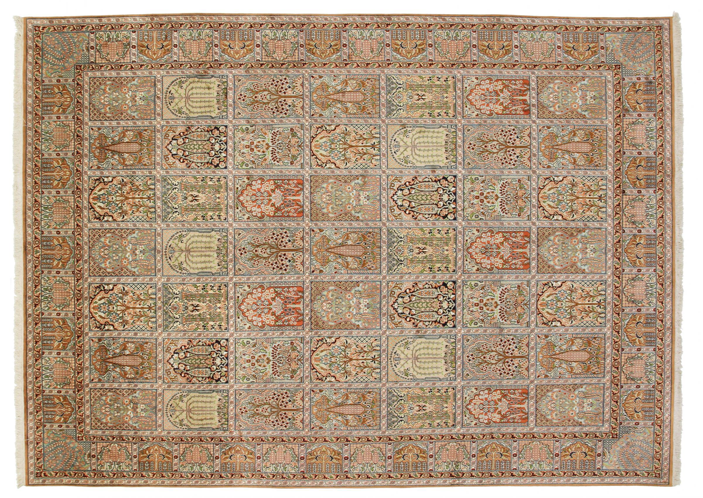kaschmir reine seide indischer teppich 341x249 id35202. Black Bedroom Furniture Sets. Home Design Ideas