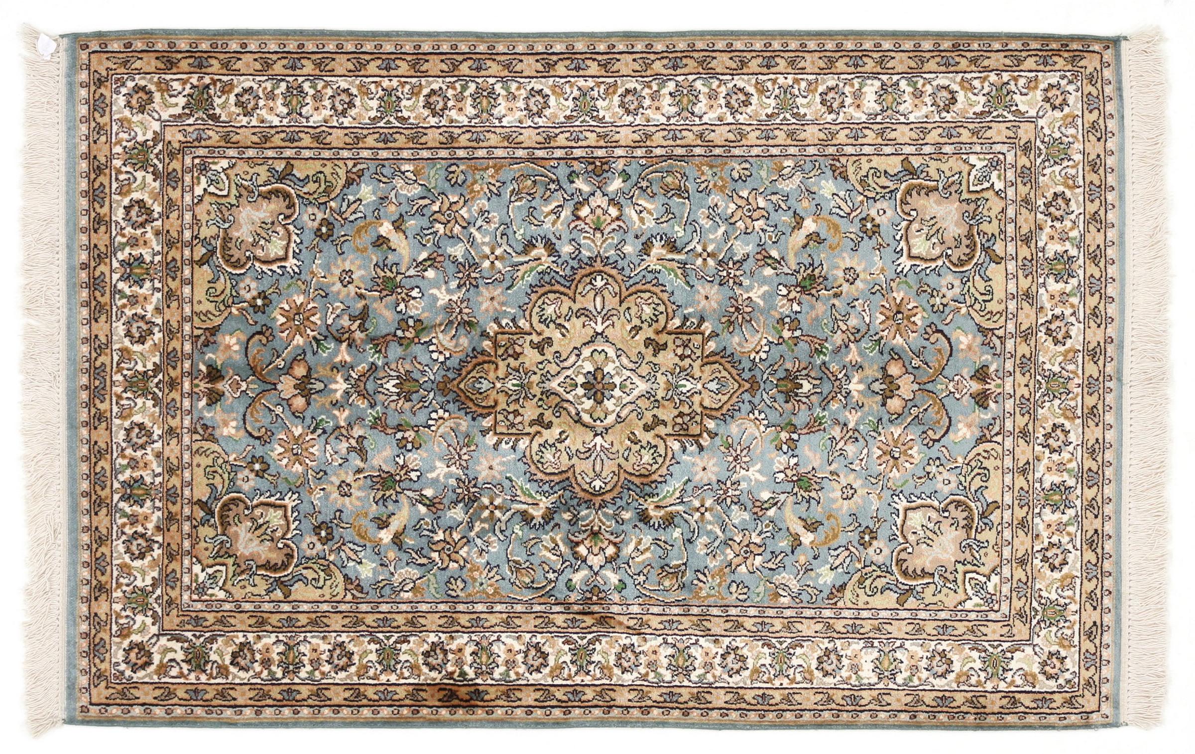 kaschmir reine seide indischer teppich 123x81 id20131 kaufen sie ihren orientteppich kaschmir. Black Bedroom Furniture Sets. Home Design Ideas