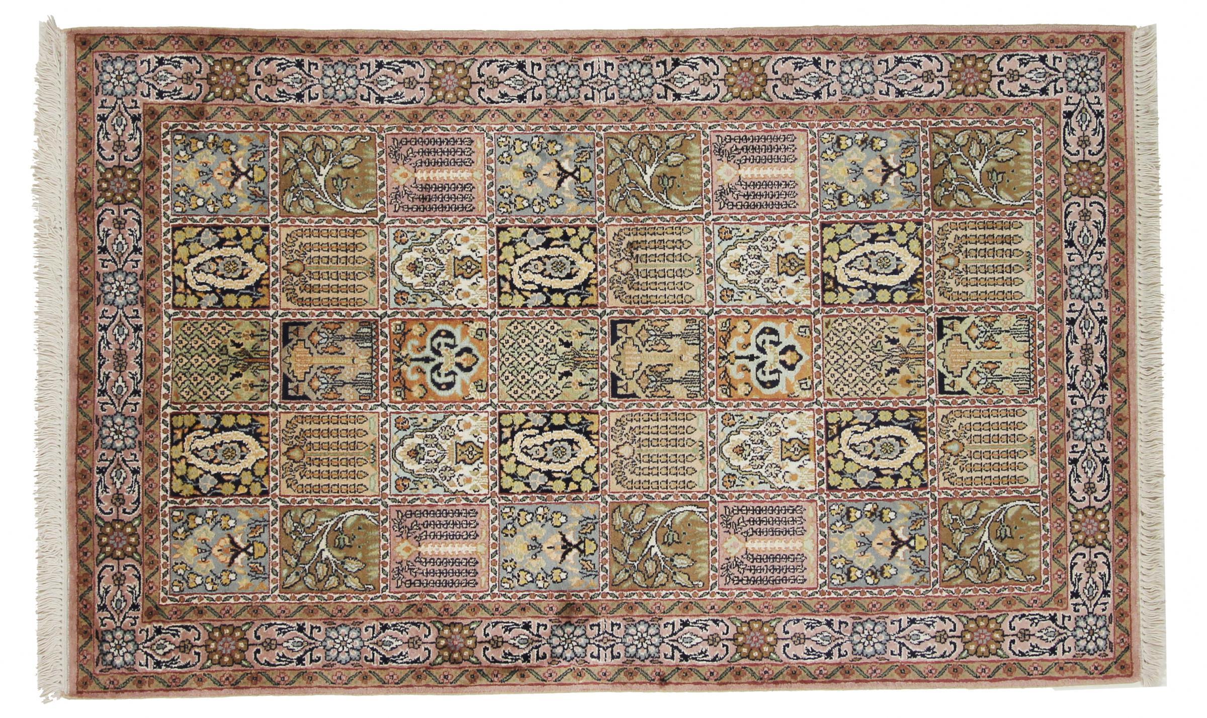 kaschmir reine seide indischer teppich 152x95 id33284. Black Bedroom Furniture Sets. Home Design Ideas