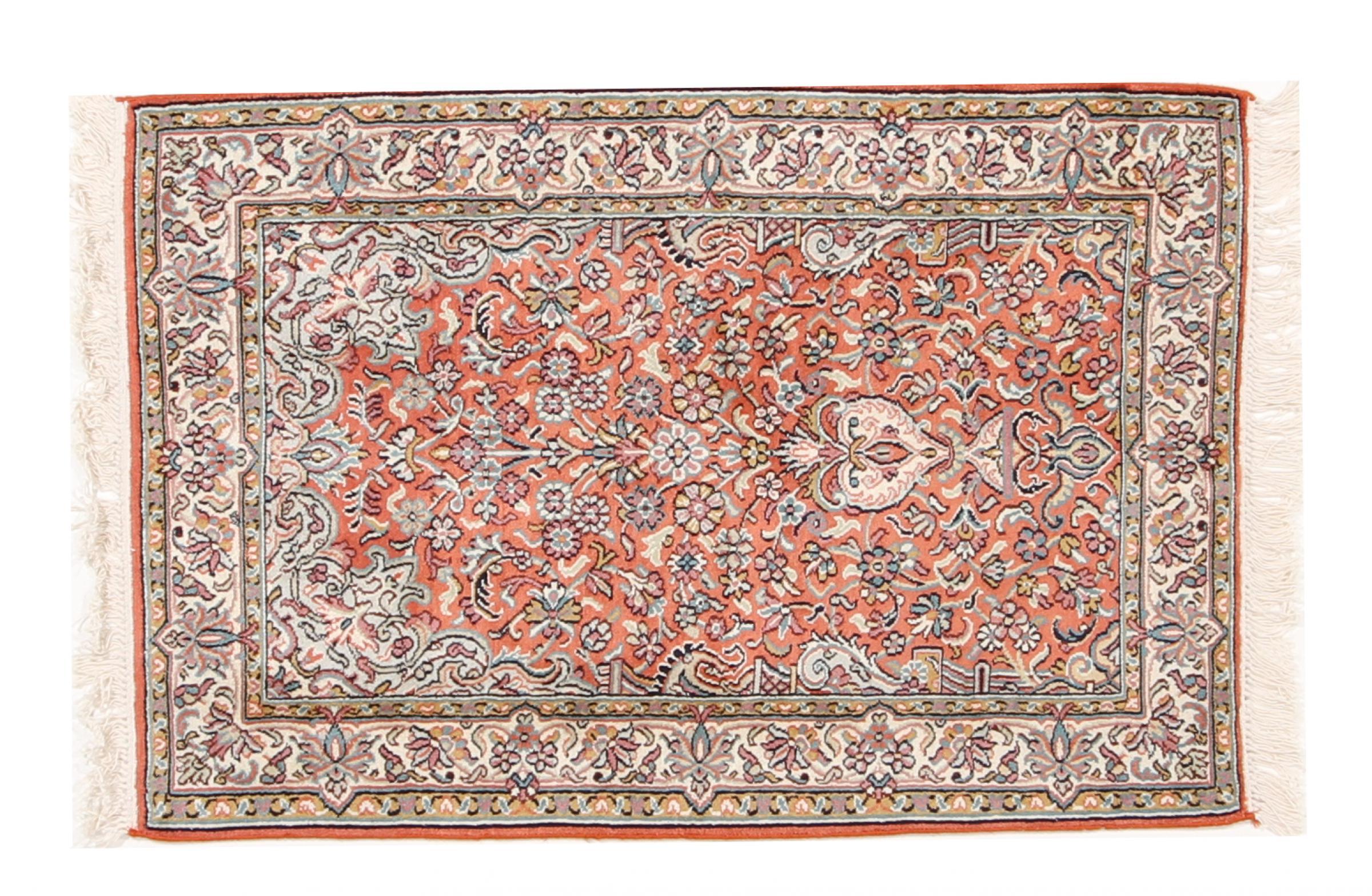 kaschmir reine seide indischer teppich 94x65 id37055 kaufen sie ihren orientteppich k 90x60. Black Bedroom Furniture Sets. Home Design Ideas