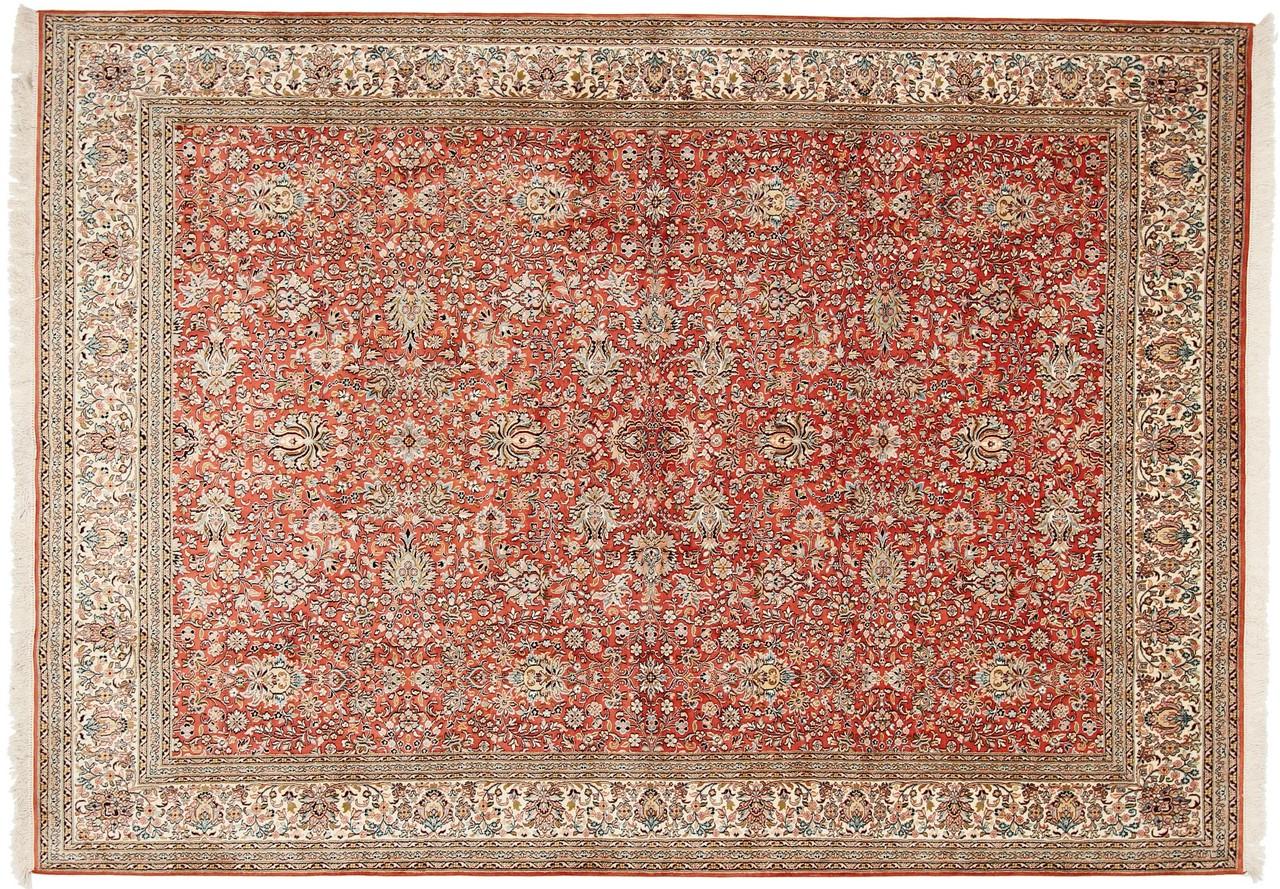 kaschmir reine seide indischer teppich 306x219 id4974. Black Bedroom Furniture Sets. Home Design Ideas