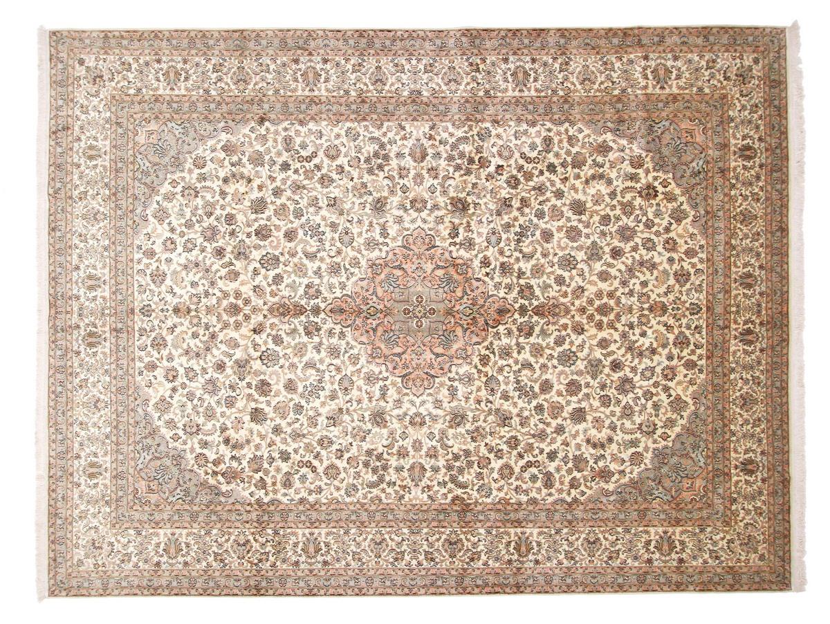 kaschmir reine seide indischer teppich 368x270 id17481. Black Bedroom Furniture Sets. Home Design Ideas