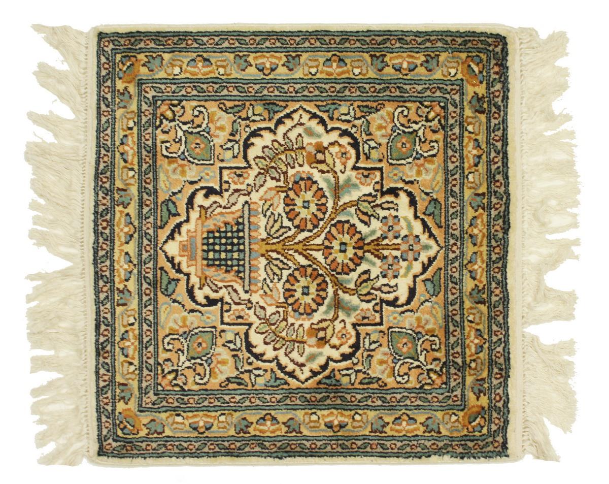 kaschmir reine seide indischer teppich 48x46 id13944. Black Bedroom Furniture Sets. Home Design Ideas
